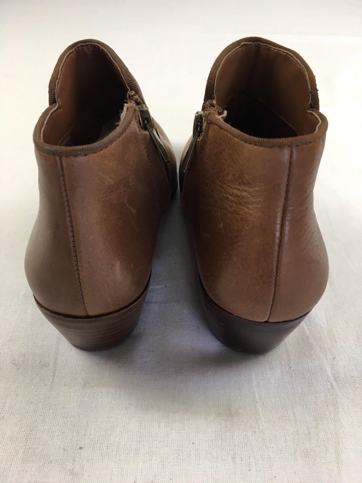 658e1fe00bde SAM EDELMAN Sale Petty Chelsea Ankle Boots Bootie Brown Leather 5.5 MISMATCH