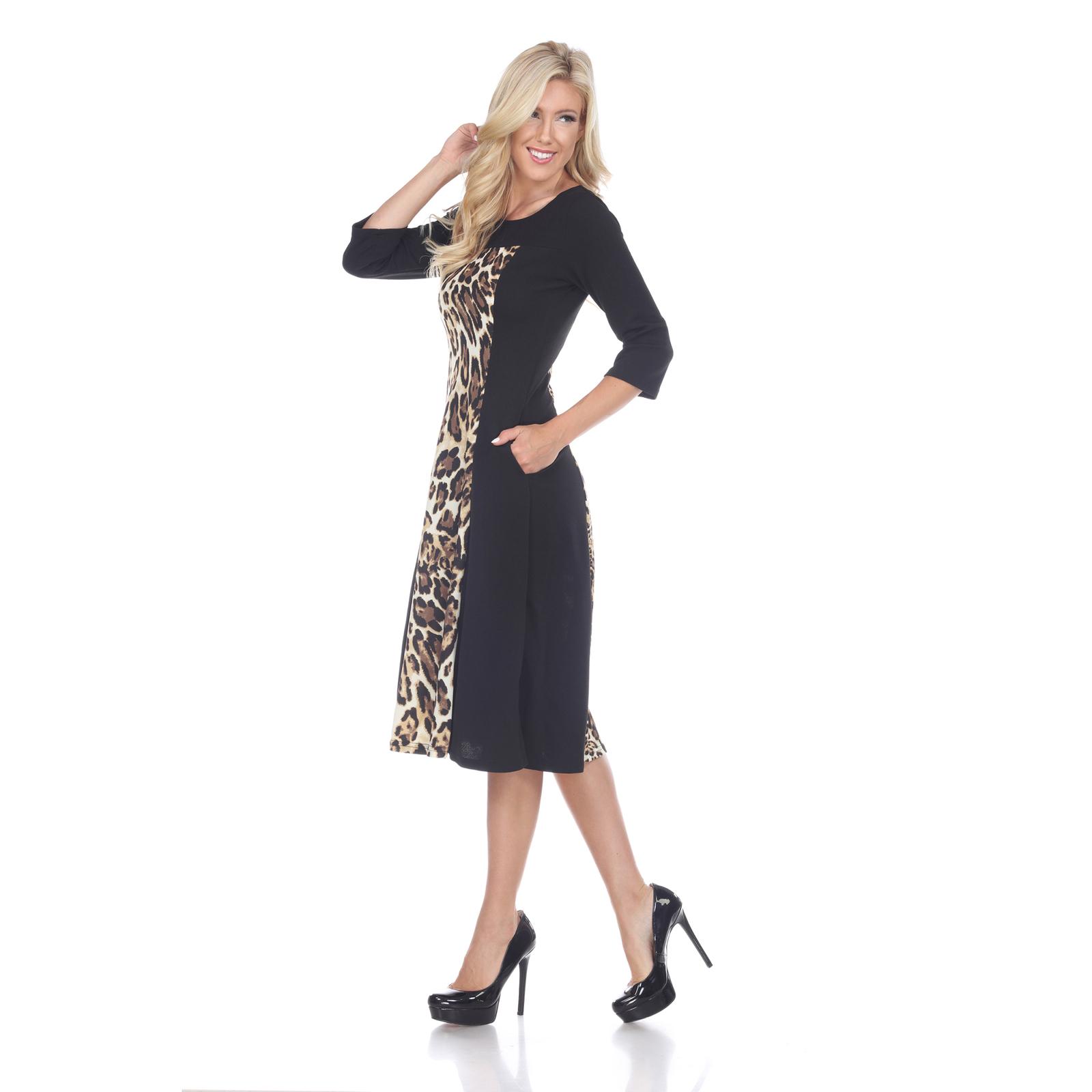 Daryn Midi Dress - Brown Tiger