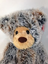 Aurora Brindle Teddy Bear Plush Grey Personalized Stuffed Brown Gray Ani... - $29.95