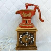 Spartus Water Pump Wall Clock Vintage Model H6814 Kitchen Decor Works - $26.91