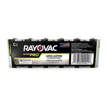 Rayovac C Batteries, Ultra Pro Alkaline C Cell Batteries (6 Battery Count) - $12.17