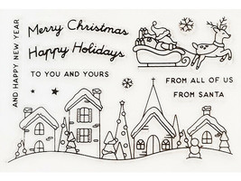 Christmas Scene Stamp Set with Coordinating Dies