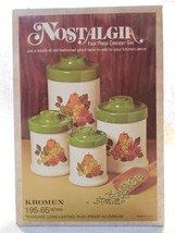 Vintage Kromex White & Avocado Green Aluminum Fruit Canister Set MIB Unused - $19.95