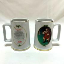 Vintage Coca Cola Christmas Mug 1996 When Friends Drop In Sundblom Print Coke - £16.92 GBP
