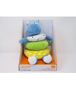 Manhattan Toy Giggle Soft Stacker Baby Toy, Blue Hippo - New - $18.99