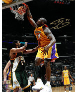 Shaquille O'Neal signed Los Angeles Lakers 16x20 Photo #34 (Dunk vs Seat... - $134.95