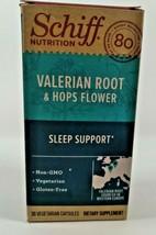Schiff Valerian Root & Hops Flower Capsules (30 count) Sleep Support Exp... - $3.95