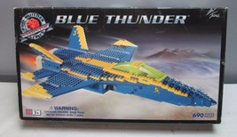 Blue Thunder Mega Block Set 690 Pieces Jet Air Force Military Lego - $58.50