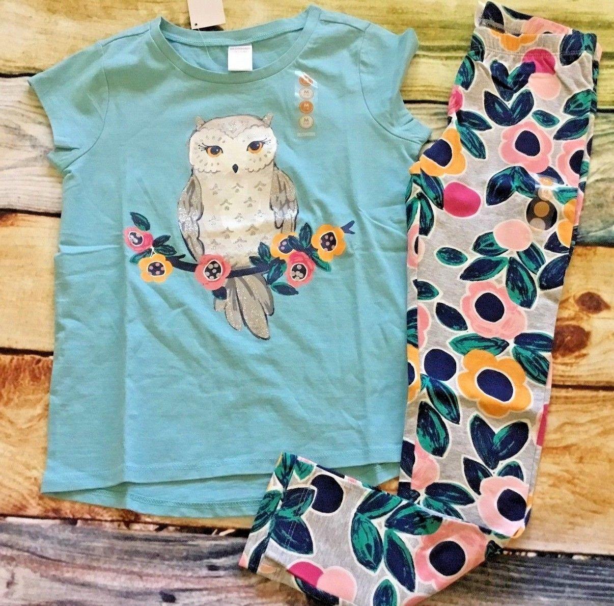 Gymboree Mix N Match 10 12 Owl Top Flower Floral Leggings NWT School Outlet