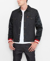 Levi's Strauss Men's NFL Team 49ERS Button Up Denim Jean Bomber Jacket 181930001 image 1