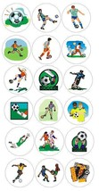 Soccer Player Stickers Labels Decal Crafts Teachers Schools Made In Usa #D164 - $2.49+