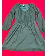 Jcrew Green Silk Long Sleeve Dress Women's Size 4 - $36.93