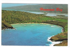 Hawai Aerial View Hanauma Bay Nature Preserve Honolulu Oahu Vintage Post... - $5.99