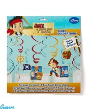 JAKE AND THE NEVER LAND PIRATES 12 PCS SWIRLS DECORATION Birthday Party ... - $7.69