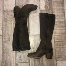 Vera Wang brown leather made in Italy 6.5 boots - $96.98