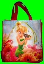 Tinkerbell Shopper Tote Flower Style - $4.85
