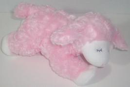 Baby GUND WINKY Lamb RATTLE Pink FURRY Plush Stuffed Animal LOVEY 58131 - $9.89
