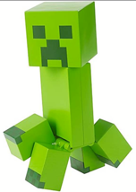 Mattel Minecraft Creeper Large-Scale Pixelated Figure, Green - $12.13