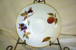"Royal Worcester 2015 Evesham Gold Flared Jumbo Saucer 6 1/2"" - $11.96"