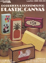 Doorstops & Bookends, Leisure Arts Plastic Canvas Pattern Booklet 285 - $2.95