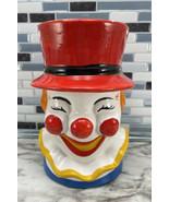 Vintage Red Top Hat Clown Vase Planter Decor NANCY PEW Taiwan Giftware Co - $25.69