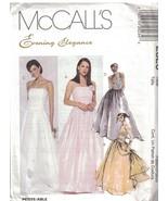 2523 non Découpé Mccalls Patron Couture Femmes Soirée Élégance Doublé Ha... - $10.00