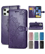 For iPhone 12/12 Pro/Max Retro Pattern Flip Leather Card Holder Stand Ca... - $53.87