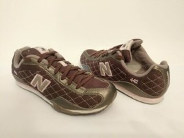 NEW BALANCE 442 Sneakers-Shoes Argyle-Diamond Pink-Brown Womens Size 7 EUC - $37.62