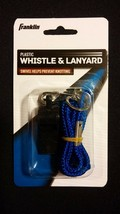 Franklin Black Whistle Blue Cord - Sports Referee, Hunting, Emergency, S... - $10.00