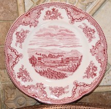 "JOHNSON BROTHERS OLD BRITAIN CASTLES PINK TOILE SALAD PLATE 8""  CHATSWOR... - $24.99"