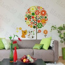 Colorful Flower Party - Wall Decals Stickers Appliques Home Dcor - $7.91