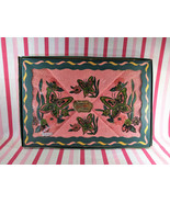 Vintage NEW/OLD Stock Joyce Morris Butterfly Decorative PINK 4pc Towel E... - $58.00
