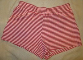 Gymboree Mix N Match Striped Coral White Knit Shorts Size M Medium 7-8 7 8 - $15.76