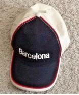 Barcelona Spain Hat Embroidered Baseball Cap Souvenir Hat Black & tan r... - $18.79