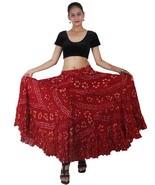 Marron Rajasthani Jaipur Jupe Danse Ventre En Coton À 25 Tailles - $52.28