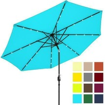 Best Choice Products 10Ft Solar Powered Led Lighted Patio Umbrella W/ Ti... - £90.15 GBP