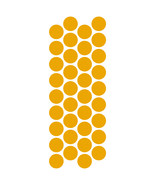 LiteMark Reflective Yellow 1 Inch Circle Decals - Pack of 36 - $10.95