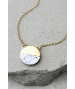 Amazing Stone Most Modern Gold and Ivory Necklace - $15.00