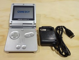 Nintendo Game Boy Advance GBA SP Platinum Silver System AGS 001 MINT NEW - $74.20