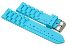 22MM TURQUOISE TEAL SILICONE RUBBER WATCH BAND STRAP FITS FOSSIL TRAVELER - $9.89