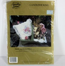 """Something Special 80209 """"Shells & Roses Pillow"""" Candlewicking Kit 14"""" X 14"""" Usa - $40.20"""
