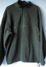 Woolrich Fleece XL Dark Green Half Zip Extra Large NO SIZE TAG SEE MEASU... - $322,47 MXN