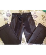 Anthropologie Elevenses Career Pants Trousers Slacks Brown Cuffed With Sash - $21.51