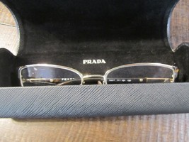 PRADA Eyeglass Frames and Case tortoise shell brown and gold color frames nice - $64.83