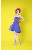 NWT AUTH  Alice Olivia Silk Monica Strapless Purple Dress $597 - $49.34
