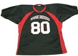 VINTAGE Newark Underdogs Football Jersey Men's Size 2XL XXL 50 - 52 Blac... - $27.33