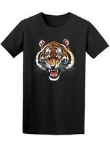 Yellow Eyed Roaring Tiger Men's Tee -Image by Shutterstock - $14.84+