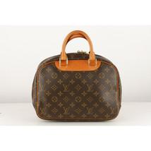 Authentic Louis Vuitton Vintage Brown Monogram Canvas Trouville Bag - $480.15