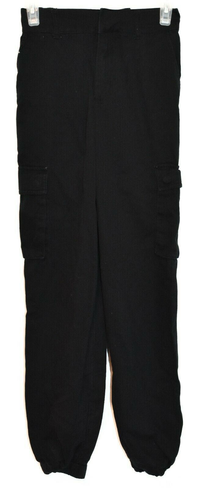 Forever 21 Women's Black Utility Cargo Cotton Jogger Pants Size XS