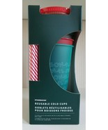 Starbucks 2019 Holiday Christmas Winter Reusable Cold Cups 5 pack w/ Str... - $59.40